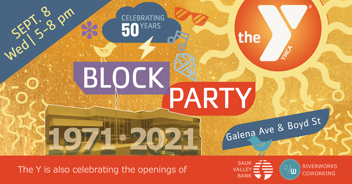 We're part of the YMCA Block Party!
